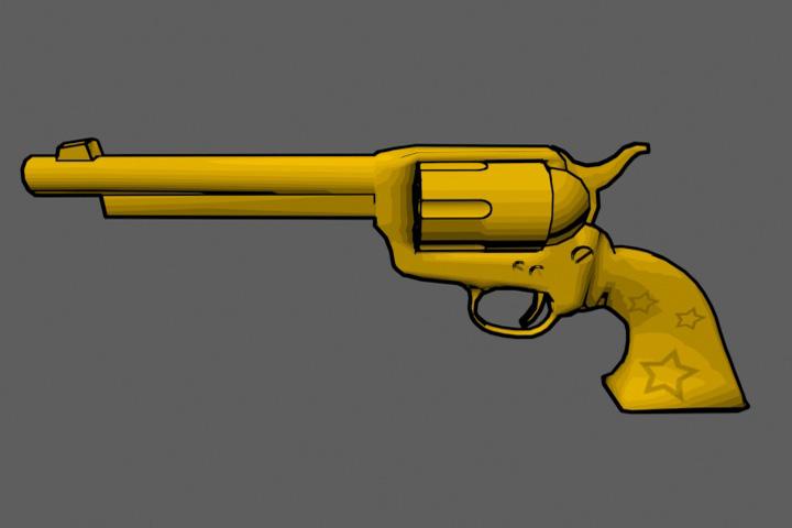 Cel Shade Revolver