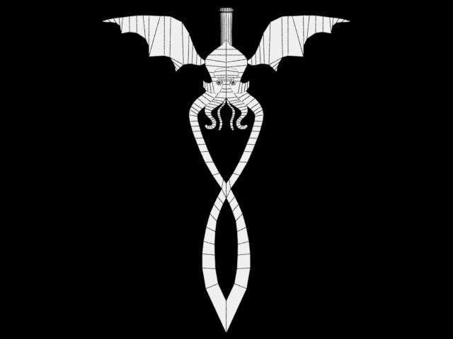 Cthulhu Sword Wireframe