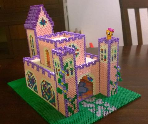 Perler Bead Princess Castle