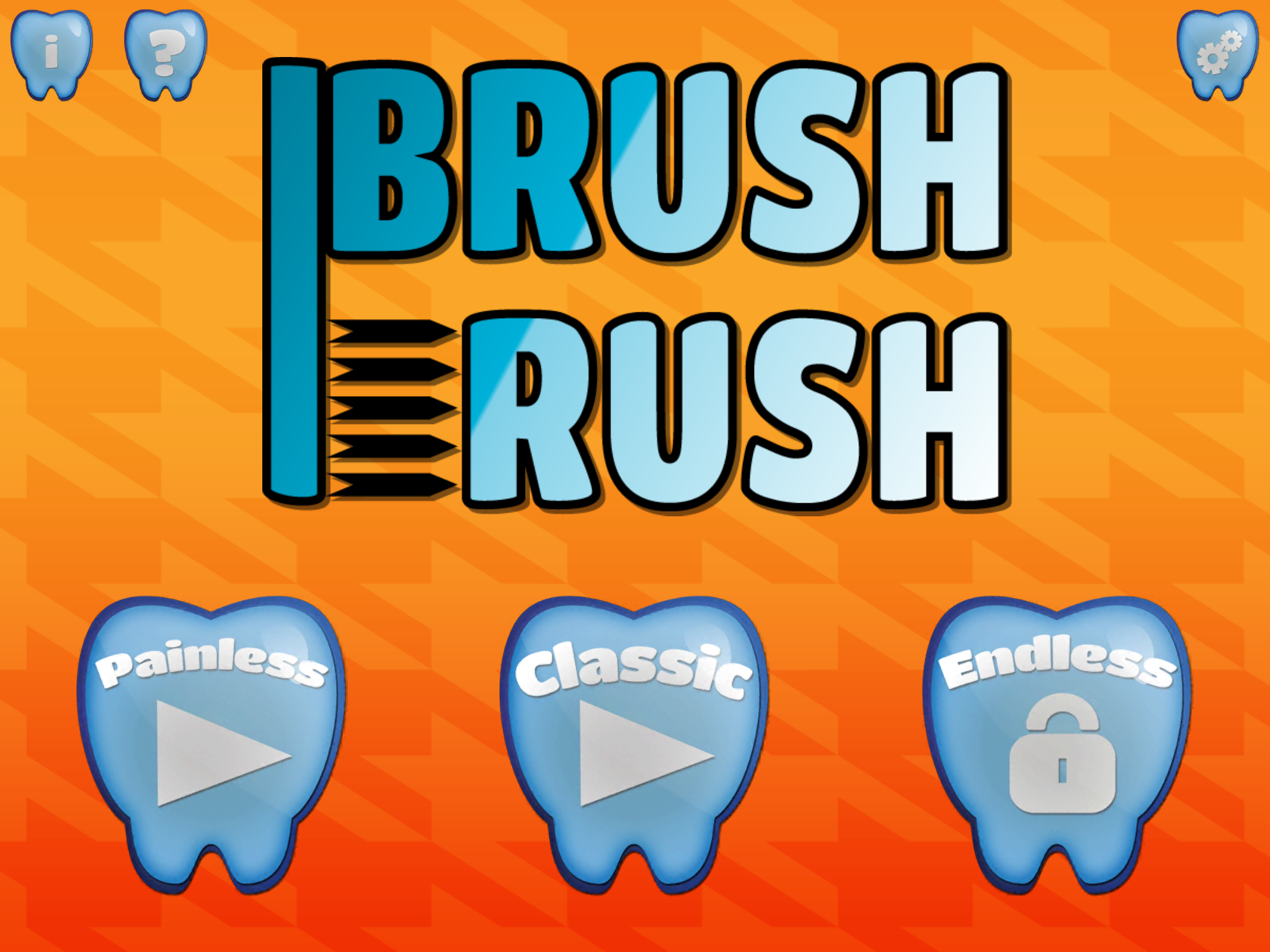 Brush Rush LITE Title Screen