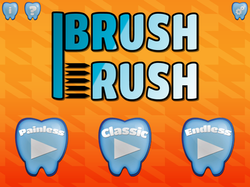Brush Rush FULL Title Screen