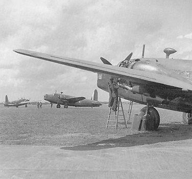 Wellington Bombers at RAF Basgbourn