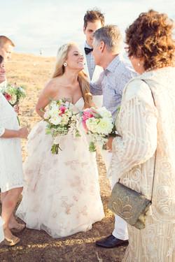 Water, ceremony, beach front wedding