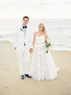 Sunset cliffs, bridal bouquet