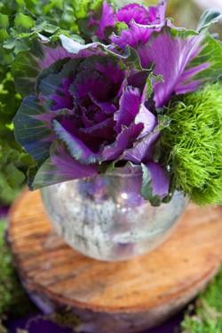 Wedding flowers, jewel tones