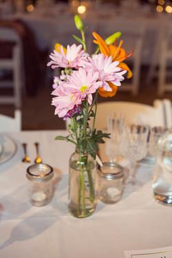 Wedding details, simple floral