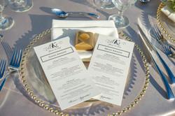 Wedding menu, wedding detials
