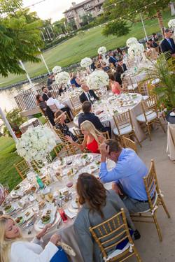 Chiavari chairs, gold wedding