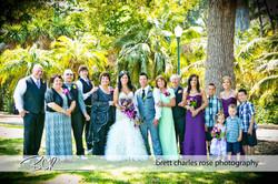 fun bridal party photos, family phot