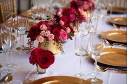 Type A Soiree, Merlot and gold,