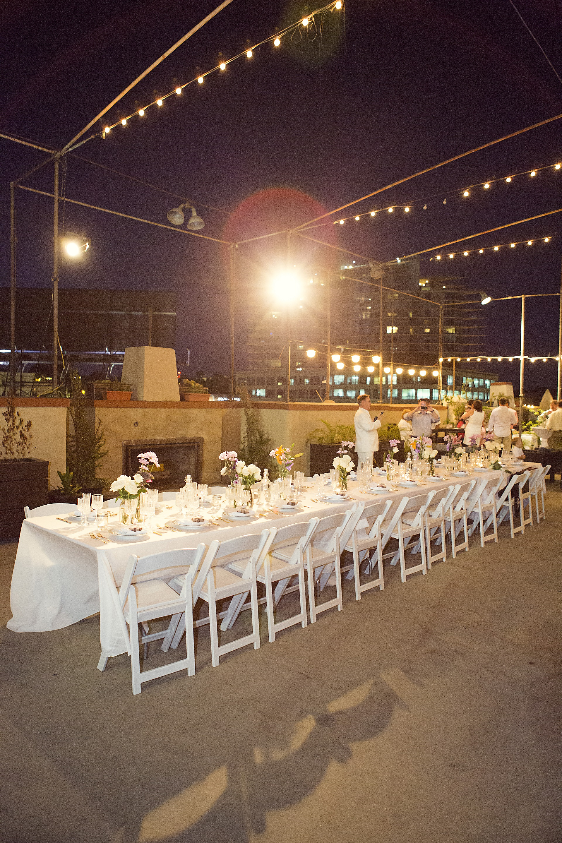 head table, wedding reception