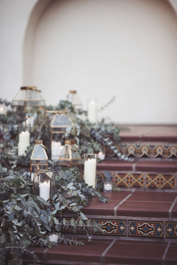 Floral and candle cascade detail