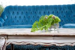 vintage seating, wedding decor