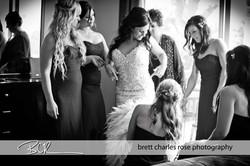 bridal dress, getting ready