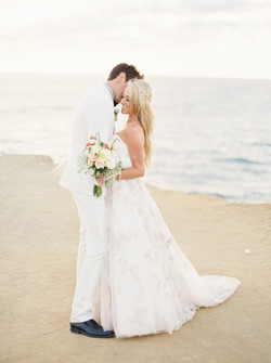 Wedding kiss, first look