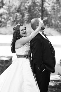 First look, wedding photos