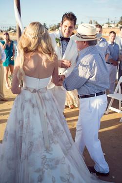 Father daughter dance, aisle walk