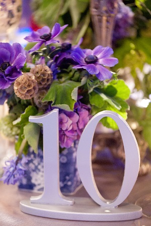Wedding centerpieces, table numbers