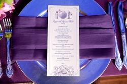 Wedding menus, custom papergoods