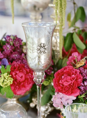 mercury glass, wedding centerpieces