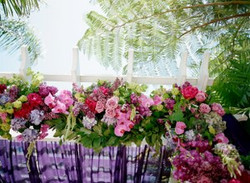 Wedding floral, jewel tone floral