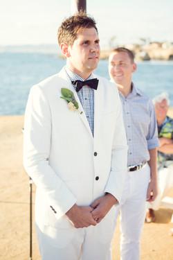 White tuxedo, black and white