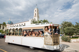 Immaculata Catholic Church, Type A Soiree, San Diego Wedding Planner, Weding Trolley