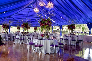 custom wedding tents, wedding lights
