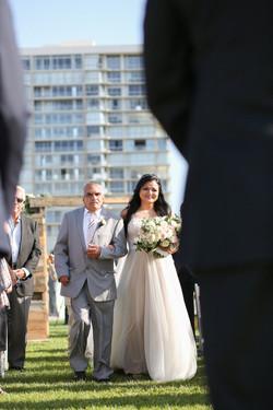 Waterfront Coronado wedding ceremony