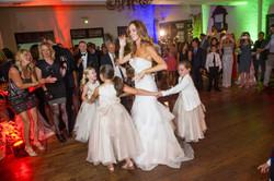 Wedding party, flower girls