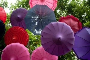 Wedding parasols, wedding decor