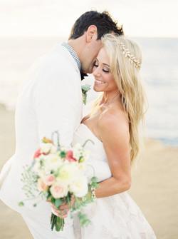 Bride and groom, wedding smile