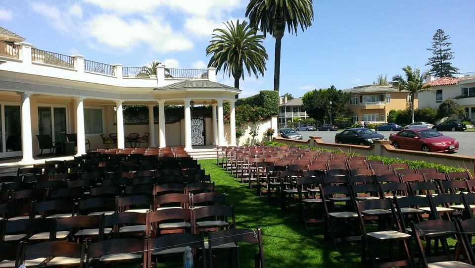 Private wedding coronado, wood chair