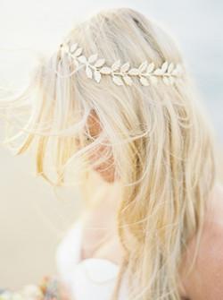 Floral crown, wedding hair