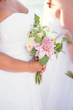 rustic wedding flowers, blush floral