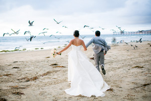 La Jolla Shores Beach Wedding - Oceanfront Ceremony: Htet & Anderson