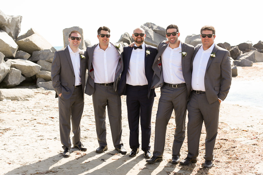 Groomsman on the beach. Best Wedding