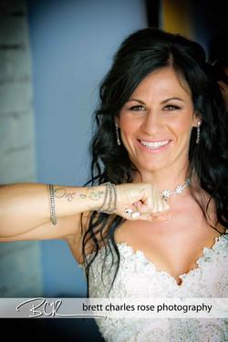 Wedding tattoos, bridal photos