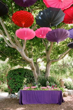 wedding decors, parasols