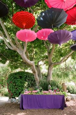 wedding decors, parasols
