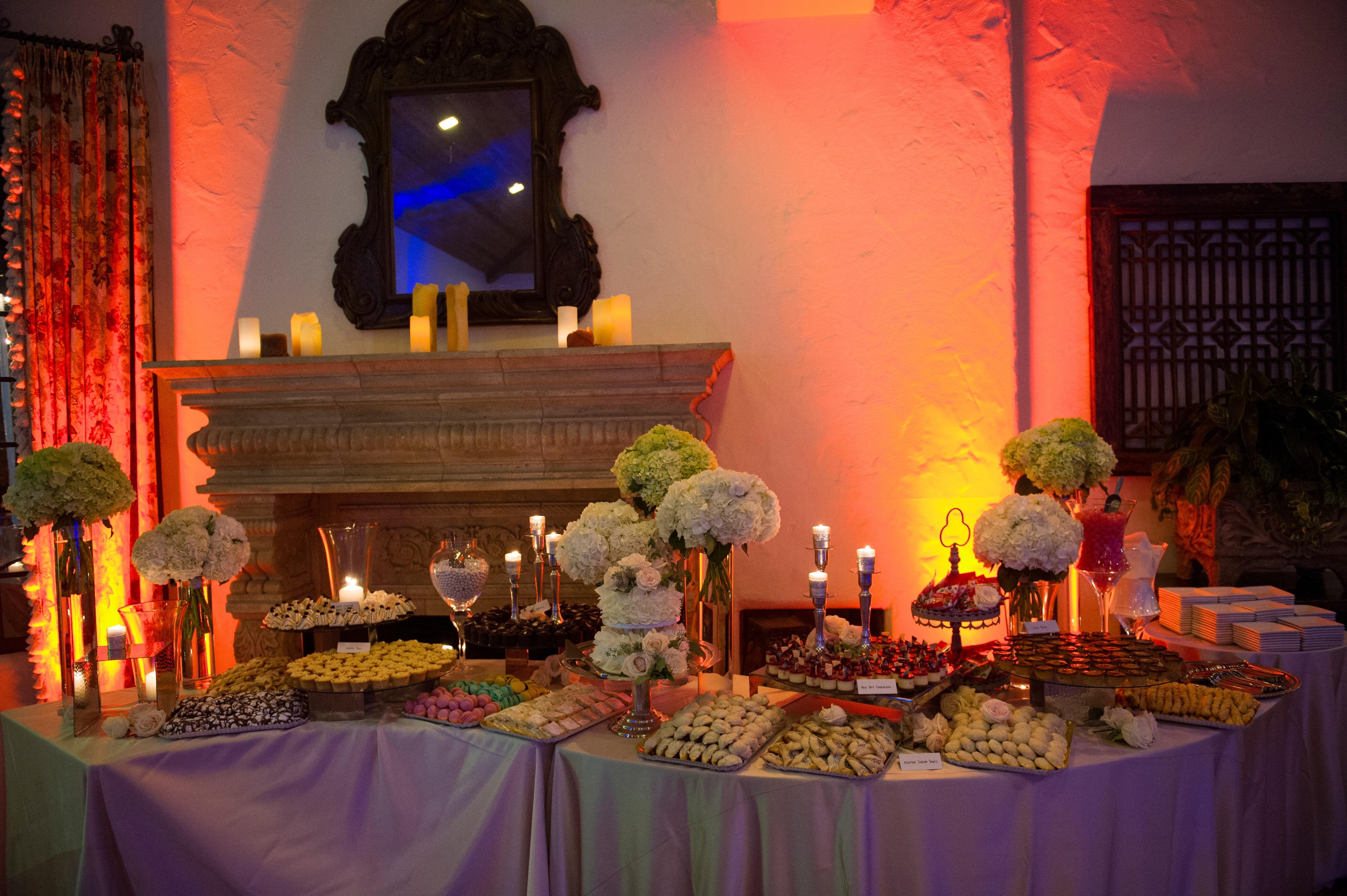 Custom wedding dessert bar, treats