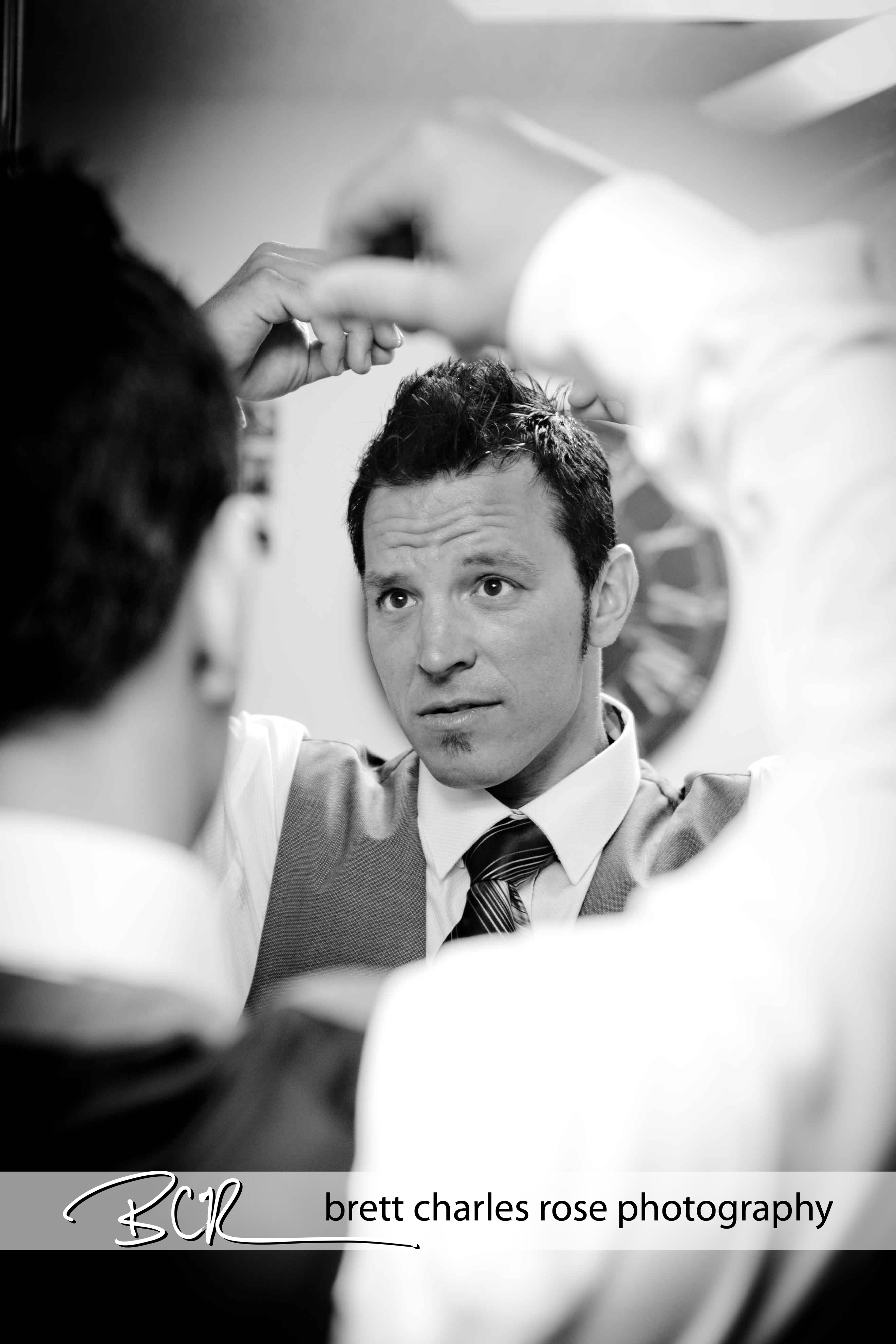 grooms hair, wedding prep
