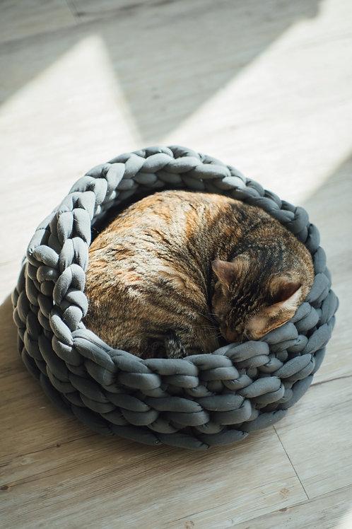 給毛孩一個溫暖的窩:編織寵物貓窩/狗窩