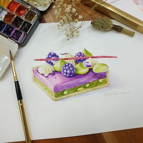 初心者的甜點繪畫日誌 (紫莓版)
