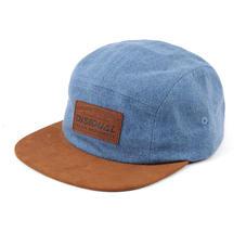 Denim 6-Panel Trucker Hat Gray