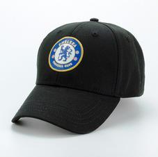 6-Panel Cotton Hat Black