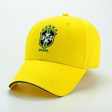 6-Panel Cotton Hat Yellow