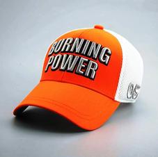 Cotton Mesh Back Hat Orange
