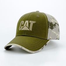 6-Panel Cotton Hat Camo Back