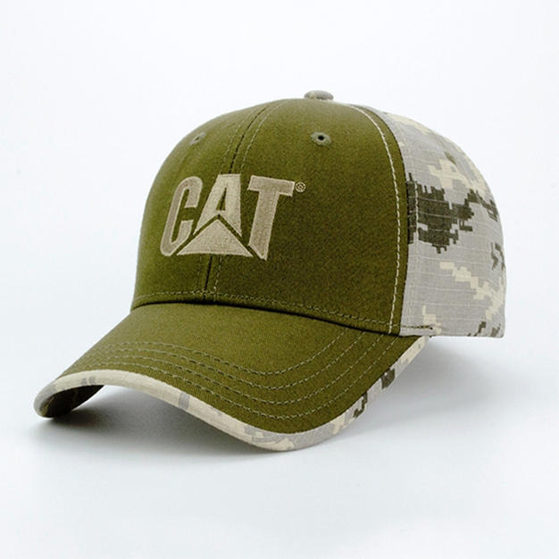 6-Panel Cotton Hat Camo Back